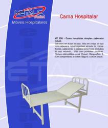 CAMA HOSPITALAR SIMPLES COM CABECEIRA MÓVEL