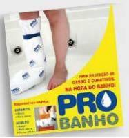 PROTEÇÃO DE GESSO E CURATIVOS NA HORA DO BANHO PARA MEIA PERNA